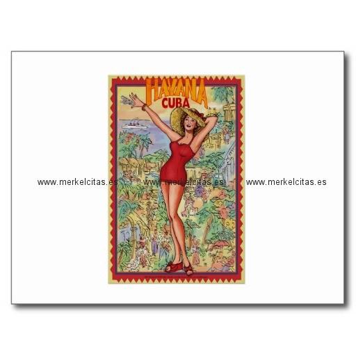 mujer havana vintage cubano la habana postal retrocharms