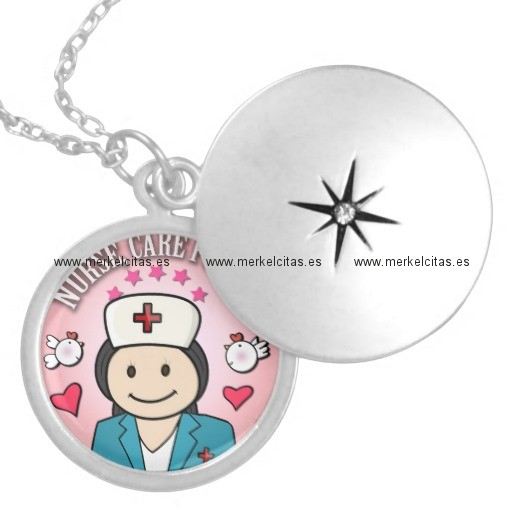 nurse care for me gifts blue and pink pendiente retrocharms