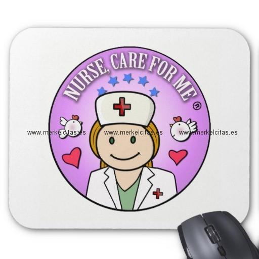 nurse care for me ginger alfombrilla de raton retrocharms