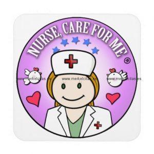 nurse care for me ginger posavasos de bebidas retrocharms