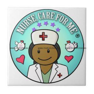 nurse gifts black nurse care for me azulejo cuadrado pequeño retrocharms