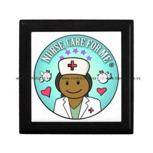 nurse gifts black nurse care for me joyero cuadrado pequeño retrocharms