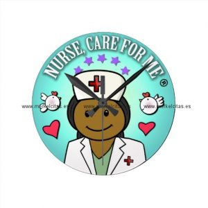 nurse gifts black nurse care for me reloj redondo mediano retrocharms