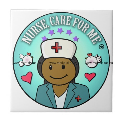 nurse gifts nurse care for me black blue azulejo cuadrado pequeño retrocharms