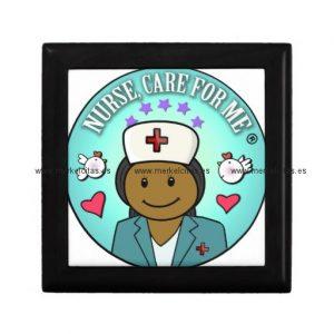 nurse gifts nurse care for me black blue joyero cuadrado pequeño retrocharms