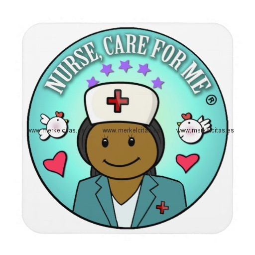 nurse gifts nurse care for me black blue posavasos de bebidas retrocharms