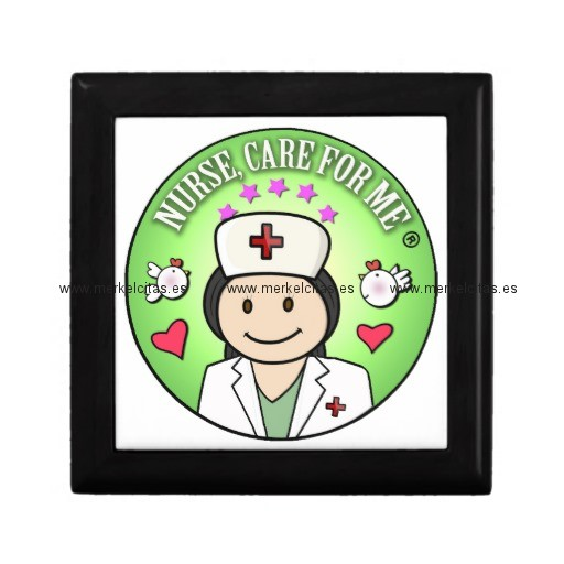 nurse will you care for me green joyero cuadrado pequeño retrocharms