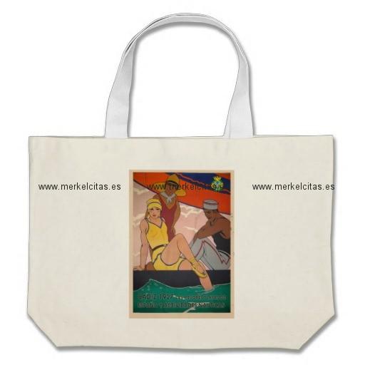 regalo cartel cadiz vintage turismo bolsa tela grande retrocharms