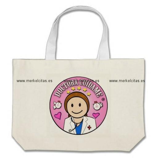 regalo para doctora personalizado bolsa tela grande retrocharms