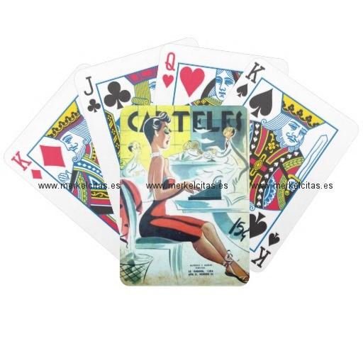 regalos cuba vintage hermosa secretaria cubana baraja de cartas retrocharms