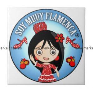 regalos de flamenca de soy muuy flamenca morena azulejo cuadrado pequeño retrocharms