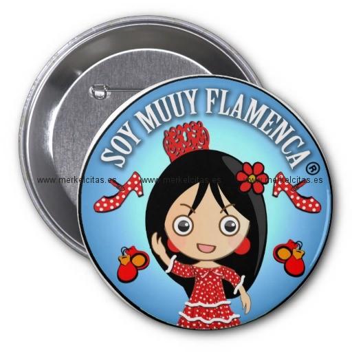regalos de flamenca de soy muuy flamenca morena chapa redonda 7 cm retrocharms