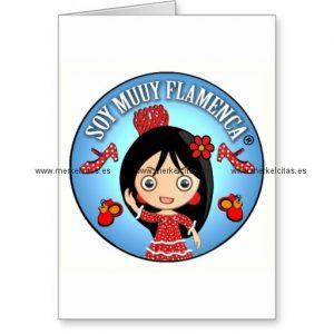 regalos de flamenca de soy muuy flamenca morena tarjeta de felicitacion retrocharms