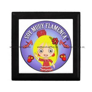 regalos de soy muuy flamenca rubia joyero cuadrado pequeño retrocharms