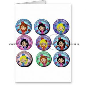 regalos de soy muy flamenca multicolor tarjeta de felicitacion retrocharms