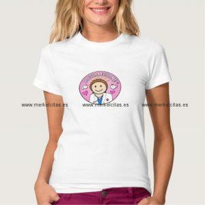 regalos doctora cuidame castana y rosa camiseta retrocharms