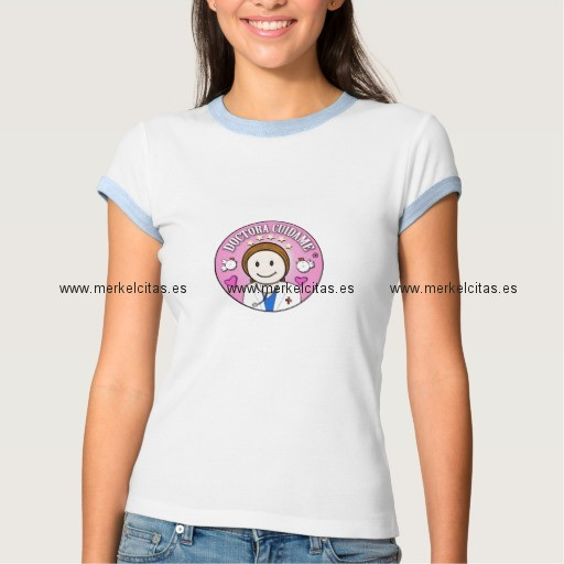 regalos doctora cuidame castana y rosa camiseta retrocharms