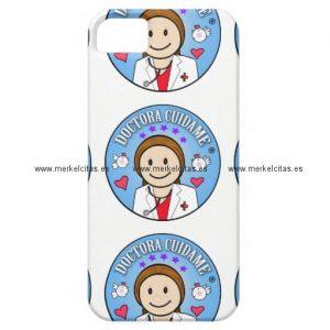 regalos para doctora castana y celeste cuidame iphone 5 carcasa retrocharms