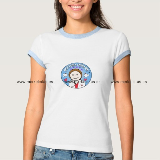 regalos para doctora castana y celeste cuidame playera retrocharms