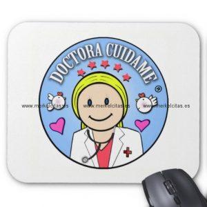 regalos para doctora rubia y celeste cuidame alfombrilla de raton retrocharms