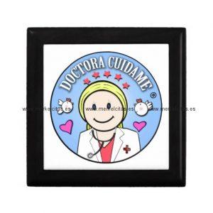 regalos para doctora rubia y celeste cuidame joyero cuadrado pequeño retrocharms