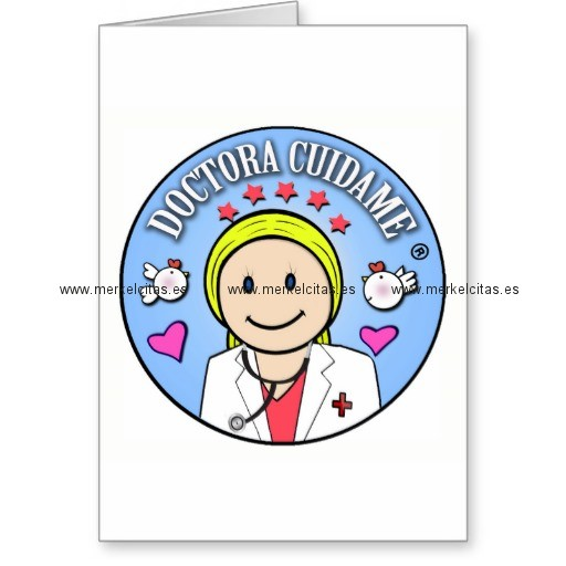 regalos para doctora rubia y celeste cuidame tarjeta de felicitacion retrocharms