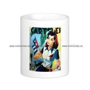 regalos vintage chica cuba bandera retrocharms taza basica blanca retrocharms