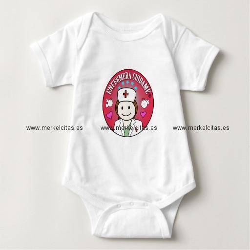 ropa bebe enfermera cuidame plis castana body de bebe retrocharms
