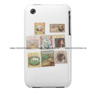 sellos cuba vintage etiquetas memorabilia iphone 3 cobreturas retrocharms