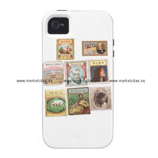 sellos cuba vintage etiquetas memorabilia iphone 4 4s fundas retrocharms