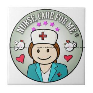 special gift for nurses azulejo cuadrado pequeño retrocharms