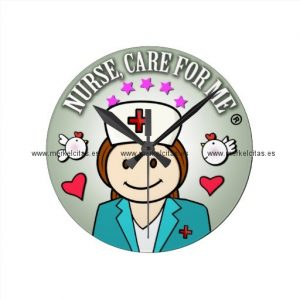 special gift for nurses reloj redondo mediano retrocharms
