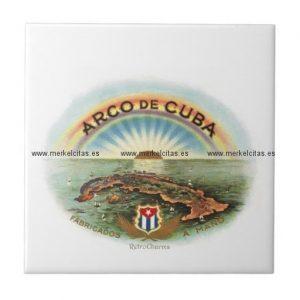 vintage cubano arco de cuba azulejo cuadrado pequeño retrocharms