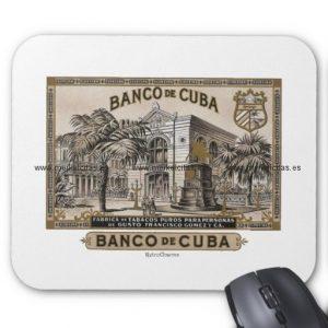 vintage cubano banco de cuba de cuba alfombrilla de raton retrocharms