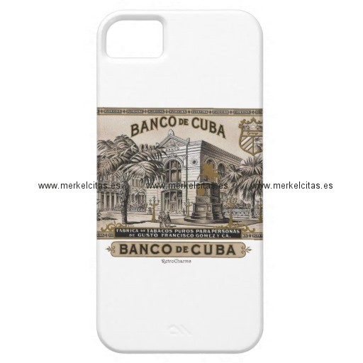 vintage cubano banco de cuba de cuba funda para iphone 5 barely there retrocharms