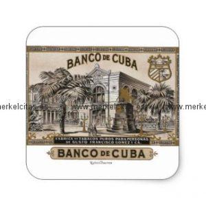 vintage cubano banco de cuba de cuba pegatina cuadrada retrocharms