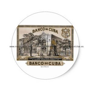 vintage cubano banco de cuba de cuba pegatina redonda retrocharms