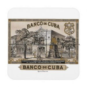 vintage cubano banco de cuba de cuba posavaso retrocharms