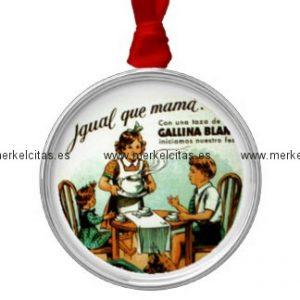 vintage retrocharm sopa antigua adorno navideño redondo de metal retrocharms