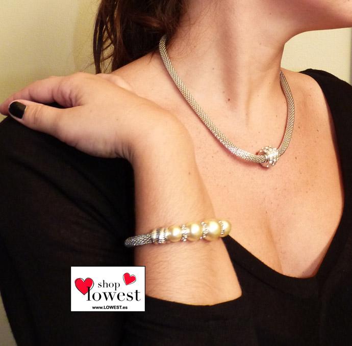 pulseras collares perlas lowest 00023