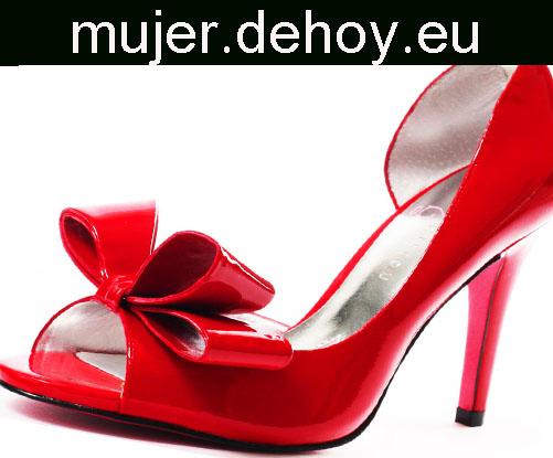 zapatos rojos lazo