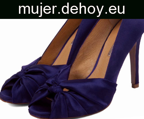 zapatos moda mujer boda azules