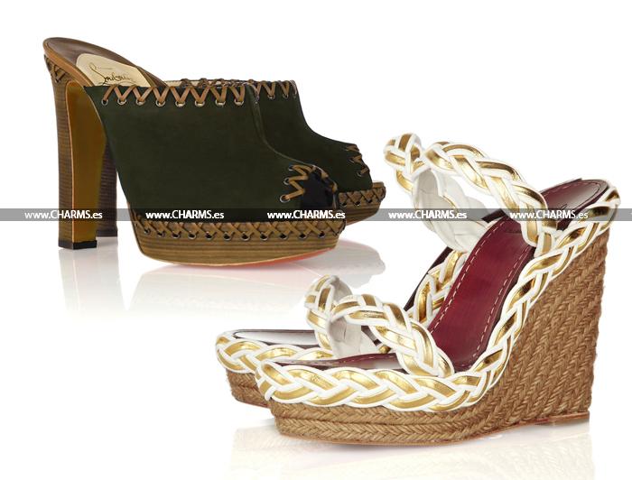 zapatos cuña louboutin