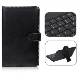 USB 2.0 Spanish Keyboard Leather Case with Stylus for 7 inch Tablet PC