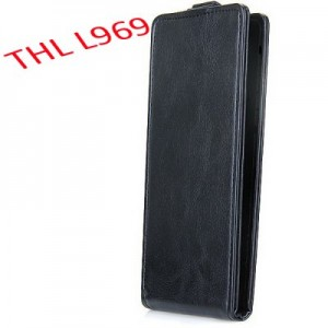 THL L969 Leather + Plastic Fashion Design Vertical Protective Wallet Case Cover