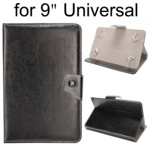 Crystal Grain Pattern Universal PU Leather Case for 9 inch Tablet PC with Magnetic Flip Stand Design