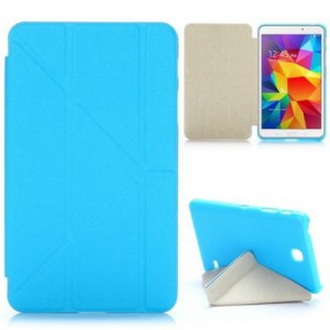 Tri Foldable Flip Stand Cross Texture Leather Case for Samsung Galaxy Tab 4 7.0 T230 T231 T235