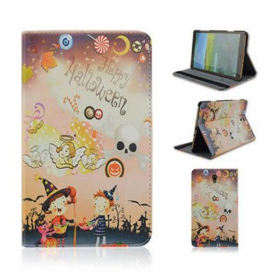 Halloween Pattern Back Cover PU Leather Case with Stand for Samsung Galaxy T700