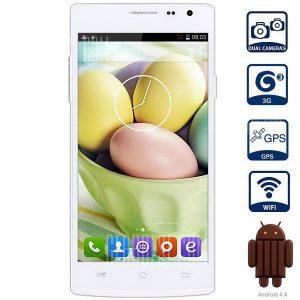 Encontrar JIAKE 7 Android 4.4 3G Phablet con 5.0 pulgadas de pantalla QHD MTK6582 1,3 Ghz Quad Core 1GB RAM 8GB ROM WiFi GPS Camaras dual