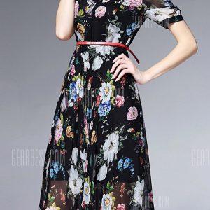 Camisa de seda vestidos florales
